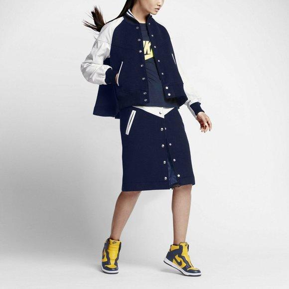 Nike x Sacai Women's Windrunner Skirt Leather/Wool